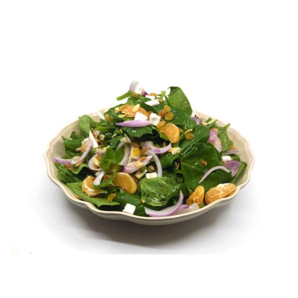 Salada de Espinafres e Tangerinas